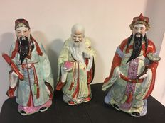 Three wise men, very old Chinese figures