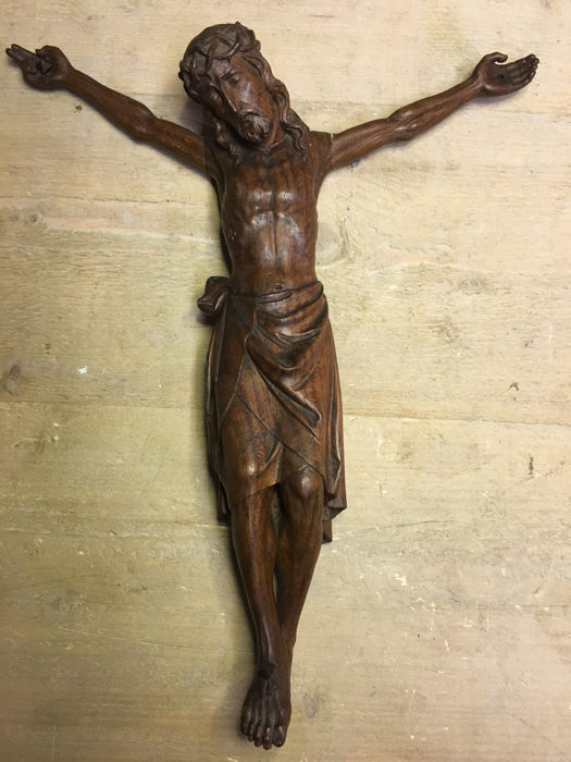 Beautiful carved wooden Corpus Christi - Flanders - 18th/19th century