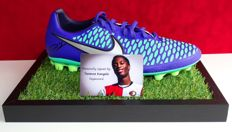 Terence Kongolo original autographed Nike Soccer shoe + Certificate of Authenticity and photo evidence