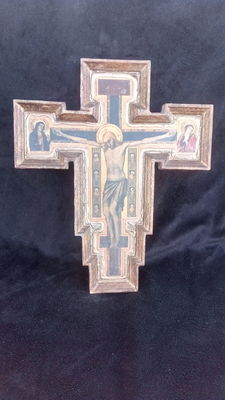 Wooden crucifix from the 19 century - altarpiece
