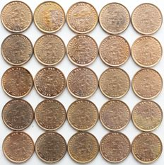 Netherlands - ½ cent 1938 Wilhelmina (25 pieces) - bronze
