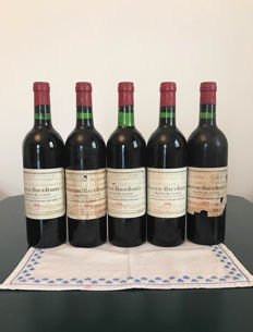1975 Chateau Haut Bailly – Grand Cru Classe Appellation Graves Controlee – 5 bottles (73 cl)