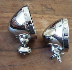 Beautiful Chrome Vintage Style Wing Mirrors - pair