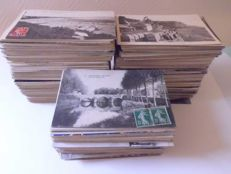 Lot of 1000 old postcards