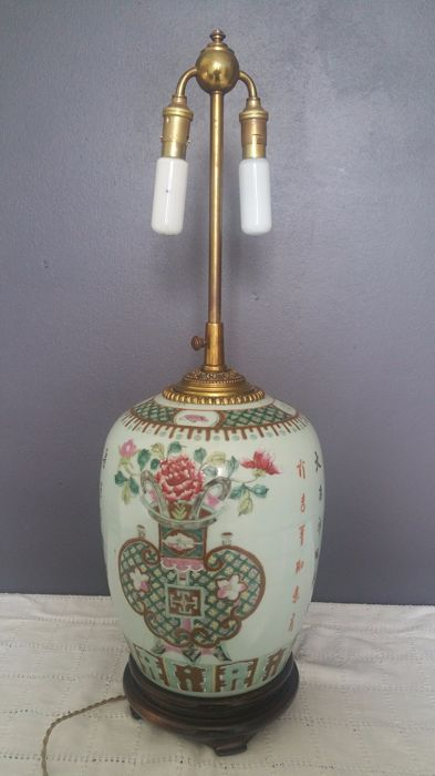 Chinese Vase Lamp Base China Start Of 20th Century Republican