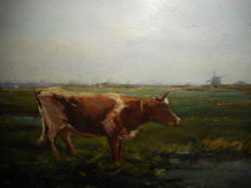 Unknown (20th century)  - Landscape with a cow