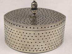 Antique Barge shaped silver lidded box Van Kempen and Zonen 1858-1924 Voorschoten.