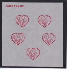 """France 2012 - Block of adhesive """"Patch of Love"""" without the black colour variety"""