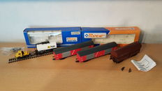 Roco H0 - 46275/1909/47295 - 4x Freight carriages of the NS/DB, with AGIP tank car + car