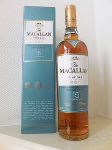 Macallan Fine Oak 15 years, Triple Cask Matured.