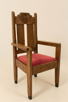 Old chair from a monastery The Hague School, ca. 1920, origin the Netherlands