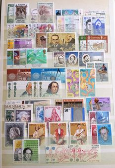 Europa Stamps 1956/1995 -composition CEPT.