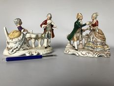 Two Grafenthal porcelain sculptures from Dresden Germany.