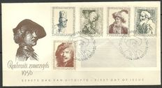The Netherlands 1956 - FDC Summer Rembrandt - NVPH E25a, with inspection certificate.