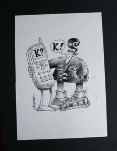 Contemori, Lido - original satirical drawing