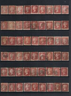Great Britain 1864/1879 - penny red plates SG 43
