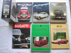 6 books about the history of cars, previous century, in German - 1984/1991