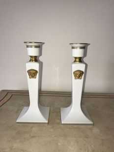 Pair of Rosenthal Versace Candle Holders