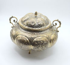 Italian designed solid silver sugar pot    , international hallmarked 900
