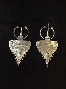 Pair of Berber silver fibulas - second half 20th c