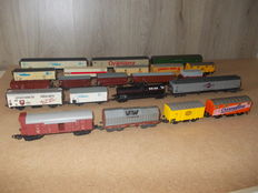 Piko/Roco/Lima H0 - 21 piece set freight carriages