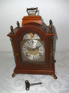 Bracket table clock with moon phases - WARMINK/WUBA - 1955/60