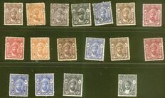 British Commonwealth 1886/1985 - A small collection on stock cards