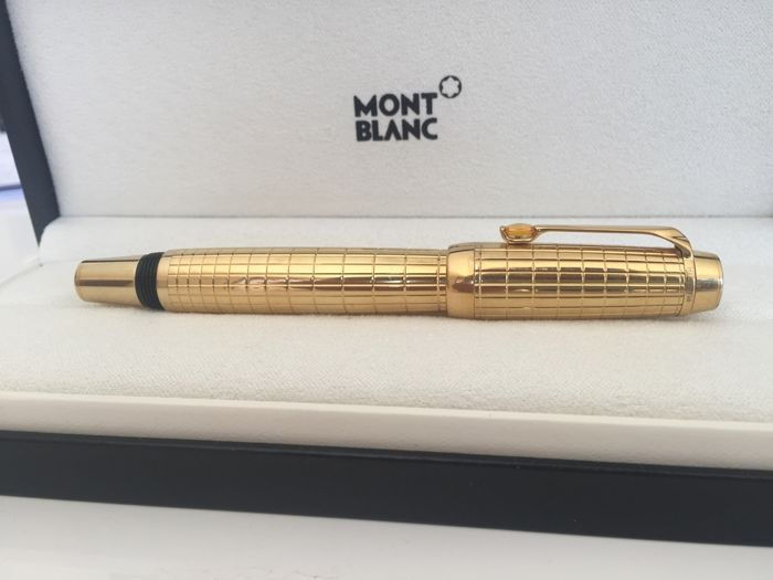 montblanc boheme citrin rollerball plaid gold plated catawiki. Black Bedroom Furniture Sets. Home Design Ideas