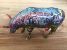 Marybeth Butman for Cow Parade-Van Gogh's Vegas and Red Rock - Medium - Retired