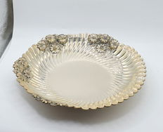 Italian designed solid silver oval dish , international hallmarked 900