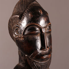 Blolo Bian Altar Statue from the BAOULE People with Wooden Base - Ivory Coast