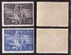 Vatican City – Airmail series, Archangel and Tobiolo (Sassone 16/17)
