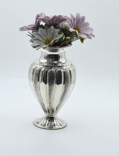 Italian designed sterling silver vase , international hallmarked 925