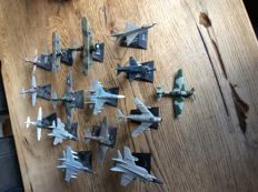 Collection of 15 Russian metal aircraft