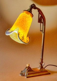 An art nouveau desk-lamp