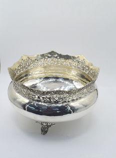 Italian designed solid silver fruit bowl     , international hallmarked 900