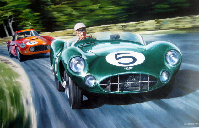 Decoratief object - Aston Martin DBR1 Caroll Shelby/Roy Salvadori  - 1959 (1 items)