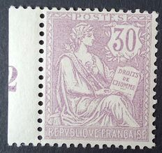 1902 France - Redone Mouchon, 30c, purple, signed Calves with digital signature - Yvert No128