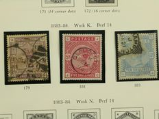 Great Britain – collection starting from classic – including Michel 82/84, among others