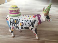 Juan Andreu & Mike Dowdall for Cow Parade - Happy Birthday to Moo- medium - Retired.