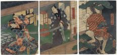 Original triptych woodblock print by Utagawa Kunisada (1786-1864) – Japan – 1858