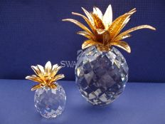 Swarovski - Pineapple large and small gold