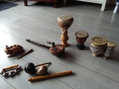 Set of nine instruments