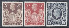 Great Britain 1939/1948  - King George VI  - Stanley Gibbons 476/478