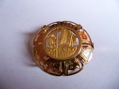 Brooch/pendant with artistic pattern from Bolivia - 3.1 cm