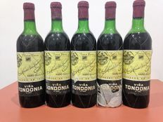 Lot of 5 bottles Rioja Collection: 5 Viña Tondonia 6th Year, around 1960-70, winery founded in 1877
