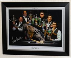 Ronnie O'Sullivan original signed photo/poster - Deluxe Framed + Certificate of Authenticity