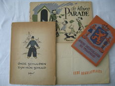 WW II; Lot with 4 publications about liberation and commemoration - Ca. 1945