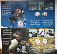 Canada - Set of 4 silver coins 50 cent 1995 Birds