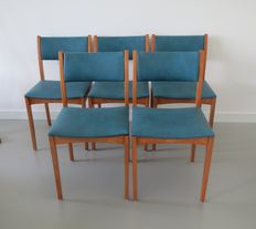 Thonet - set of five dining chairs.